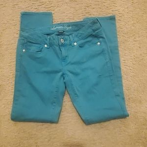 American Eagle Jeans, teal size 4